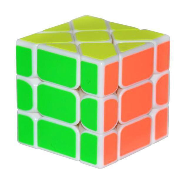 New Arrival YongJun YJ Speed 3X3X3 Fisher Cube Magic Cubes Speed Puzzle Learning Educational Toys For Children Kids cubo magico-White-JadeMoghul Inc.