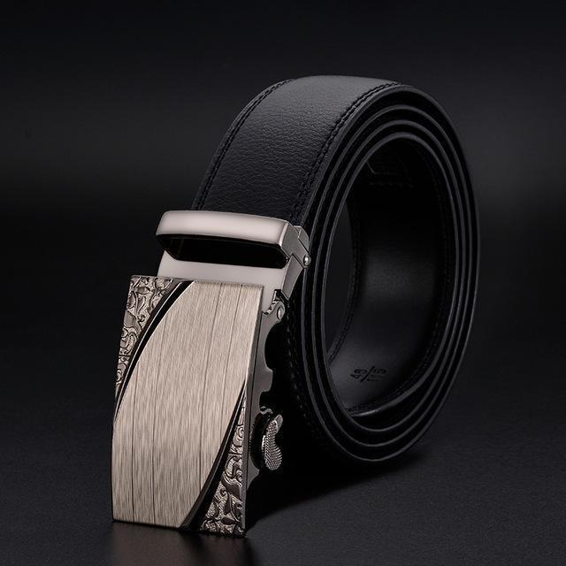 New Designer Mens Belt / Luxury Leather Belt With Metal Buckle-1-130cm-JadeMoghul Inc.