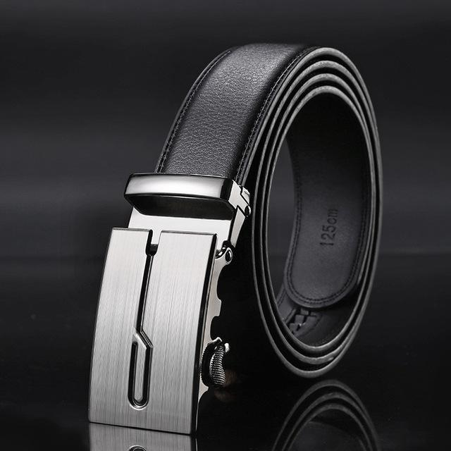New Designer Mens Belt / Luxury Leather Belt With Metal Buckle-10-130cm-JadeMoghul Inc.