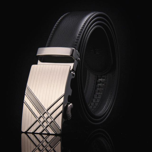 New Designer Mens Belt / Luxury Leather Belt With Metal Buckle-11-110cm-JadeMoghul Inc.
