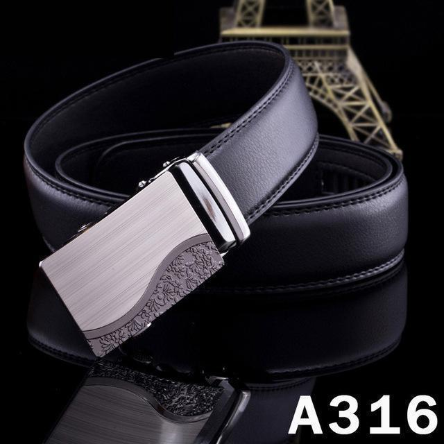 New Designer Mens Belt / Luxury Leather Belt With Metal Buckle-14-120cm-JadeMoghul Inc.