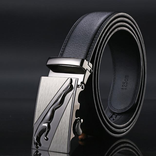 New Designer Mens Belt / Luxury Leather Belt With Metal Buckle-2-130cm-JadeMoghul Inc.