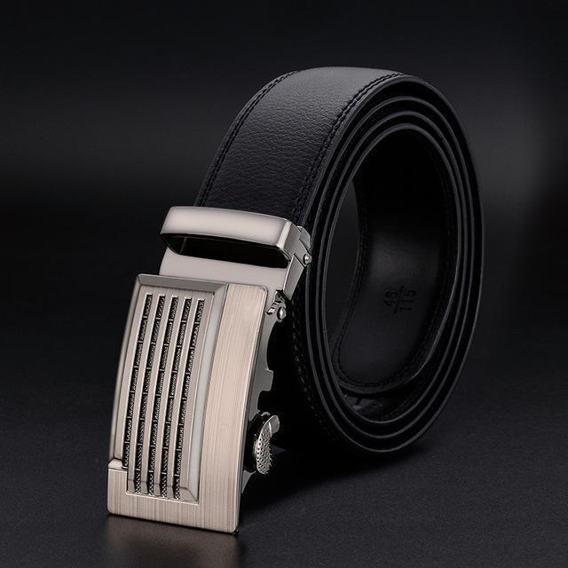 New Designer Mens Belt / Luxury Leather Belt With Metal Buckle-20-120cm-JadeMoghul Inc.