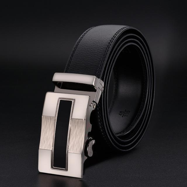 New Designer Mens Belt / Luxury Leather Belt With Metal Buckle-21-120cm-JadeMoghul Inc.