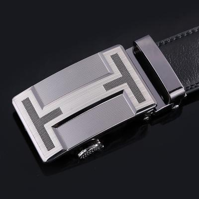 New Designer Mens Belt / Luxury Leather Belt With Metal Buckle-23-120cm-JadeMoghul Inc.