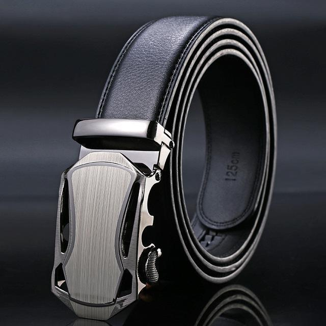 New Designer Mens Belt / Luxury Leather Belt With Metal Buckle-3-130cm-JadeMoghul Inc.