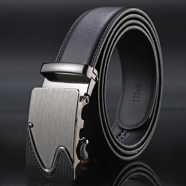 New Designer Mens Belt / Luxury Leather Belt With Metal Buckle-4-130cm-JadeMoghul Inc.