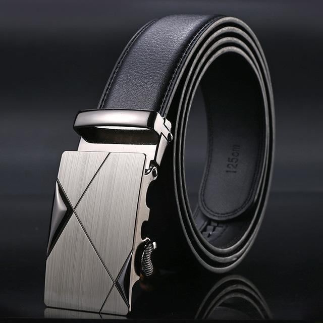 New Designer Mens Belt / Luxury Leather Belt With Metal Buckle-5-130cm-JadeMoghul Inc.