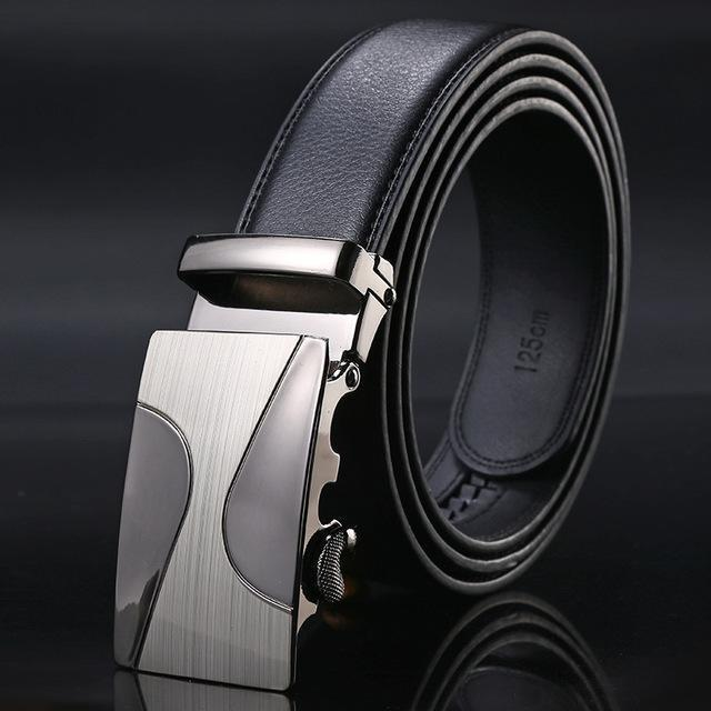 New Designer Mens Belt / Luxury Leather Belt With Metal Buckle-6-130cm-JadeMoghul Inc.