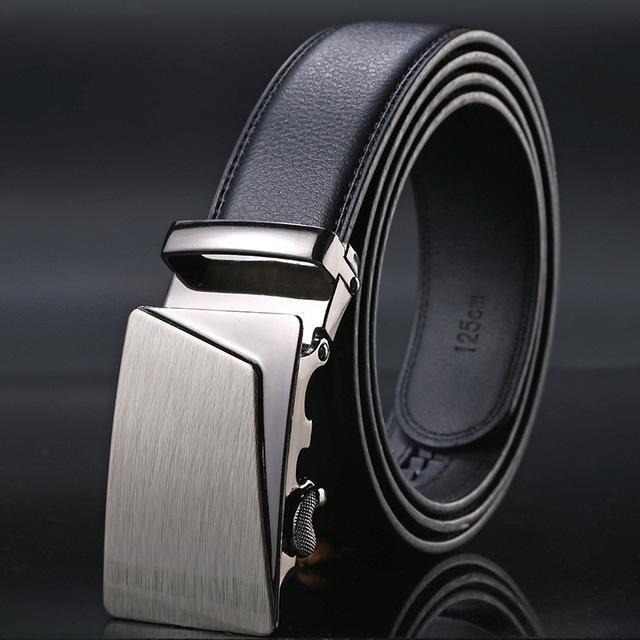 New Designer Mens Belt / Luxury Leather Belt With Metal Buckle-7-130cm-JadeMoghul Inc.