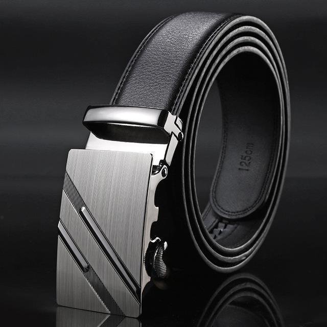 New Designer Mens Belt / Luxury Leather Belt With Metal Buckle-8-130cm-JadeMoghul Inc.