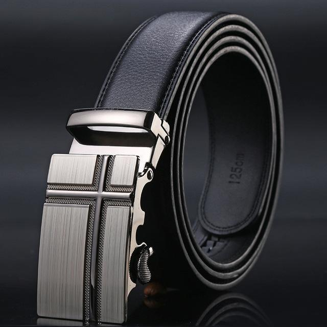 New Designer Mens Belt / Luxury Leather Belt With Metal Buckle-9-130cm-JadeMoghul Inc.