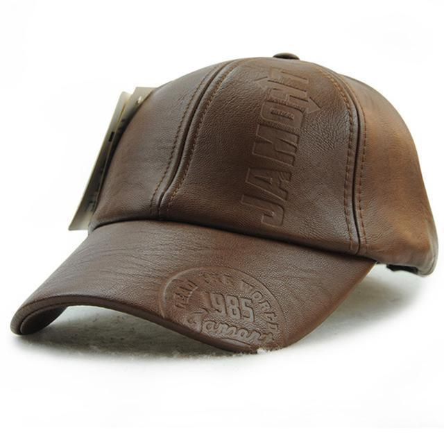 New Fashion High Quality Leather Cap-coffee-adult-JadeMoghul Inc.