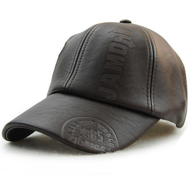 New Fashion High Quality Leather Cap-dark coffee-adult-JadeMoghul Inc.