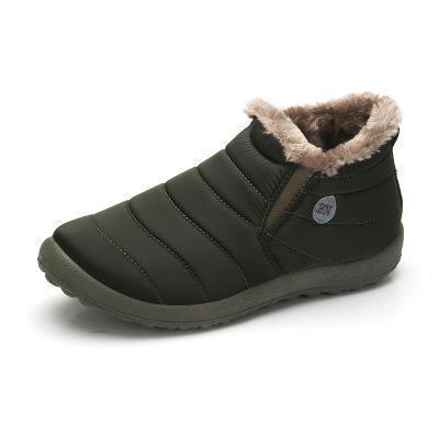 New Fashion Men Winter Shoes / Solid Color Snow Boots-Army green-11-JadeMoghul Inc.