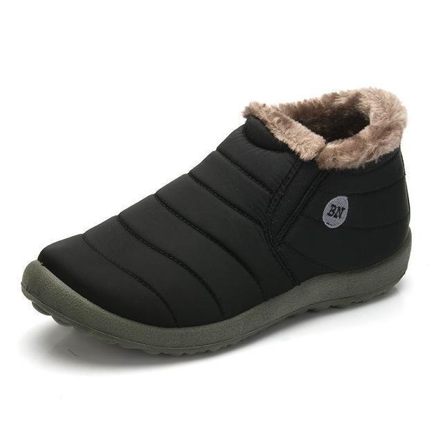 New Fashion Men Winter Shoes / Solid Color Snow Boots-Black-11-JadeMoghul Inc.