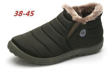 New Fashion Men Winter Shoes / Solid Snow Boots-army green-5-JadeMoghul Inc.
