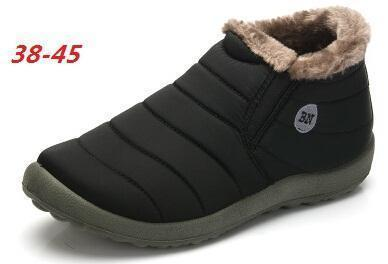 New Fashion Men Winter Shoes / Solid Snow Boots-black-5-JadeMoghul Inc.