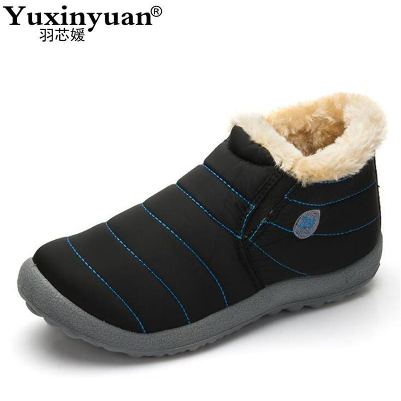 New Fashion Men Winter Shoes / Solid Snow Boots-black blue-5-JadeMoghul Inc.