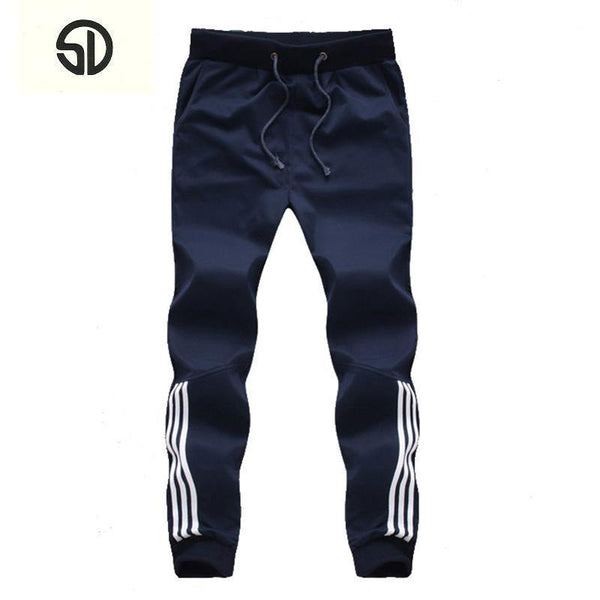 New Fashion Tracksuit Bottom - Men's Casual Pants - Cotton Sweatpants - Gym Clothing-SD 2 Navy-XL-JadeMoghul Inc.