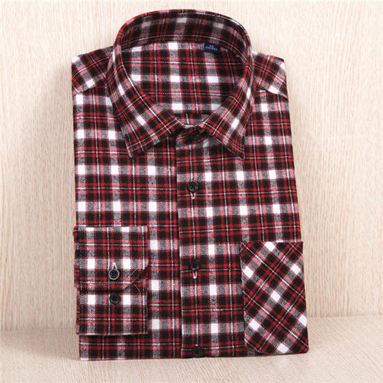 New Flannel Shirt / Slim Fit Soft Comfortable Shirt-MC110-Asian Size S-JadeMoghul Inc.