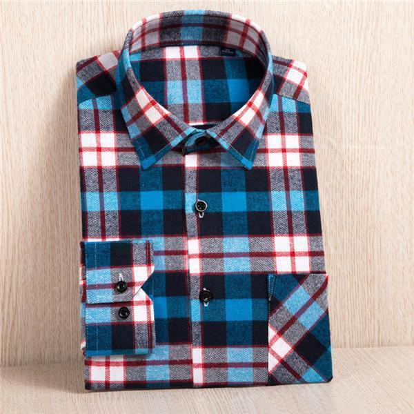 New Flannel Shirt / Slim Fit Soft Comfortable Shirt-MC111-Asian Size S-JadeMoghul Inc.