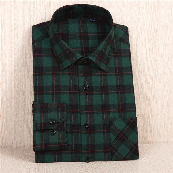 New Flannel Shirt / Slim Fit Soft Comfortable Shirt-MC114-Asian Size S-JadeMoghul Inc.