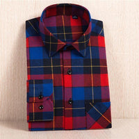 New Flannel Shirt / Slim Fit Soft Comfortable Shirt-MC115-Asian Size S-JadeMoghul Inc.