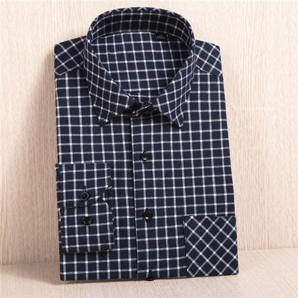 New Flannel Shirt / Slim Fit Soft Comfortable Shirt-MC116-Asian Size S-JadeMoghul Inc.