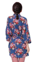 New Floral Robe For Women - Bridal Kimono Robe-blue-L/XL-JadeMoghul Inc.