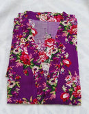 New Floral Robe For Women - Bridal Kimono Robe-Purple-L/XL-JadeMoghul Inc.