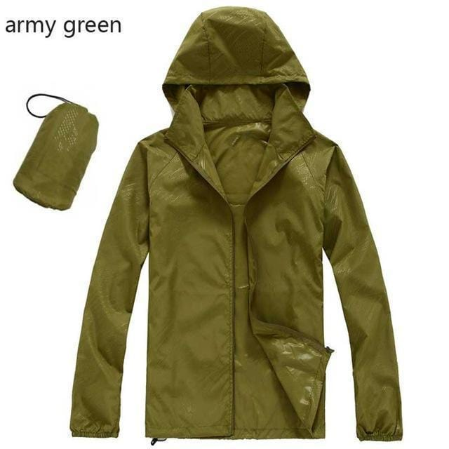 New Hot Hooded Thin Jacket / Lightweight Windbreaker-MWJ2498 army green-M-JadeMoghul Inc.