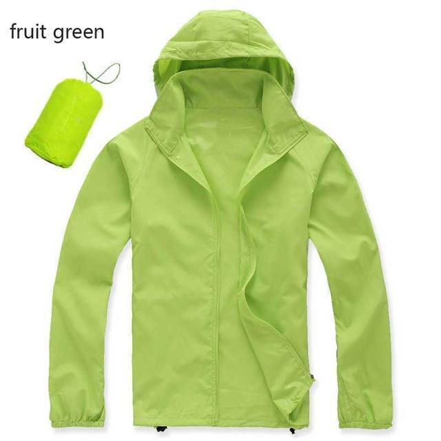 New Hot Hooded Thin Jacket / Lightweight Windbreaker-MWJ2498 fruit green-M-JadeMoghul Inc.