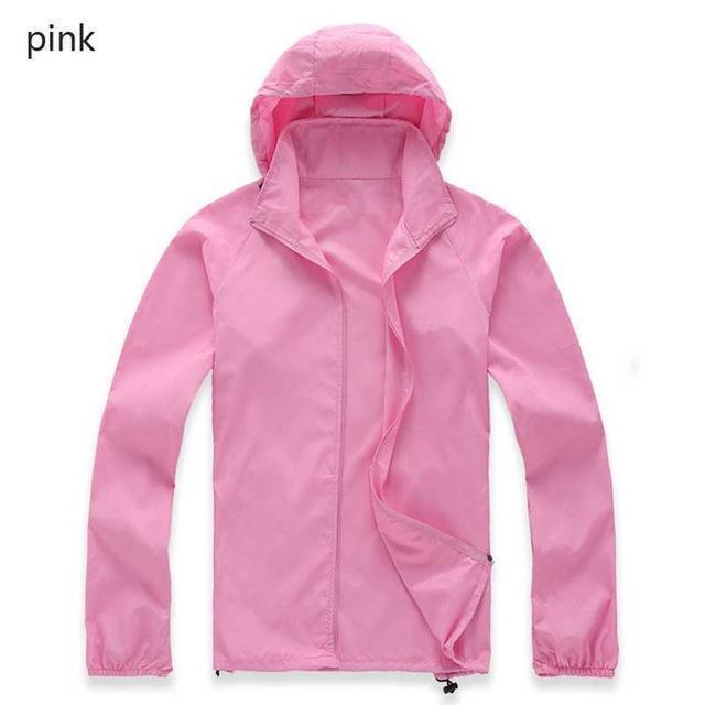 New Hot Hooded Thin Jacket / Lightweight Windbreaker-MWJ2498 pink-M-JadeMoghul Inc.
