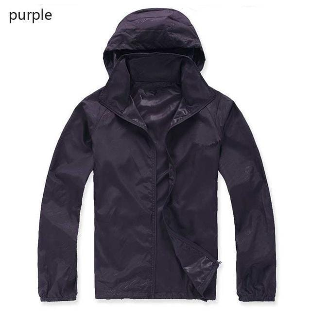 New Hot Hooded Thin Jacket / Lightweight Windbreaker-MWJ2498 purple-M-JadeMoghul Inc.
