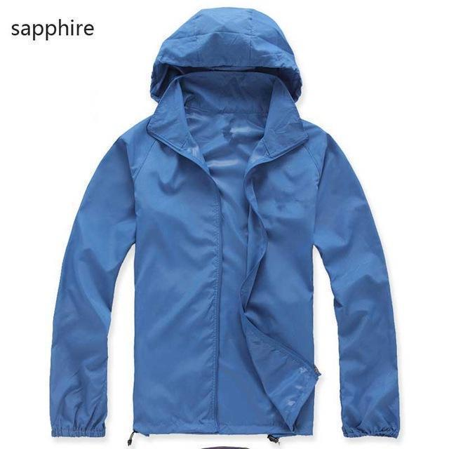 New Hot Hooded Thin Jacket / Lightweight Windbreaker-MWJ2498 sapphire-M-JadeMoghul Inc.