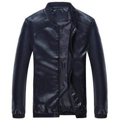 New Leather Jackets - Men's PU Leather Slim Fit Jacket JadeMoghul Inc.