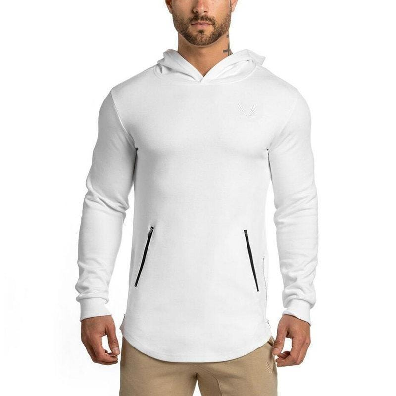 New Men Camouflage Hoodie / Pullover Fitness Bodybuilding Sweatshirts-White-S-JadeMoghul Inc.