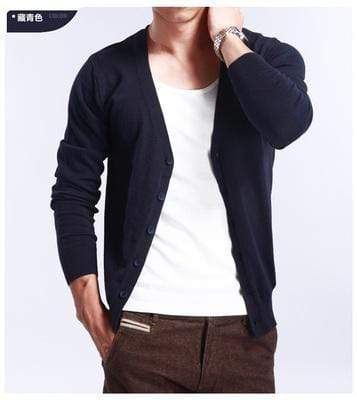 New Men's V-Neck Cardigan / Slim Thin Sweater AExp