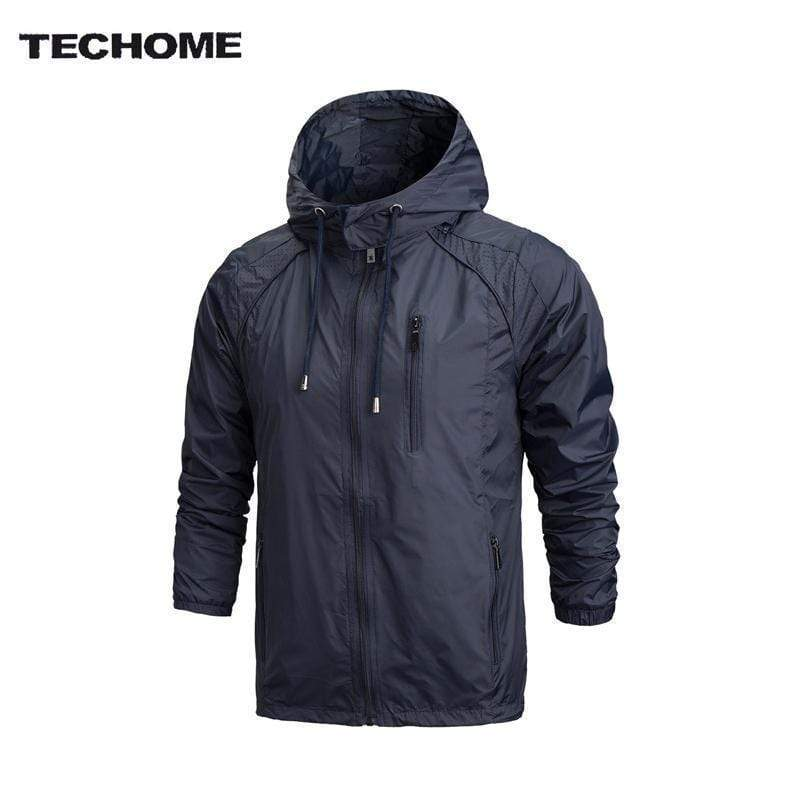 New Men Sportswear Thin Windbreaker Jacket / Outwear Hooded Jacket AExp