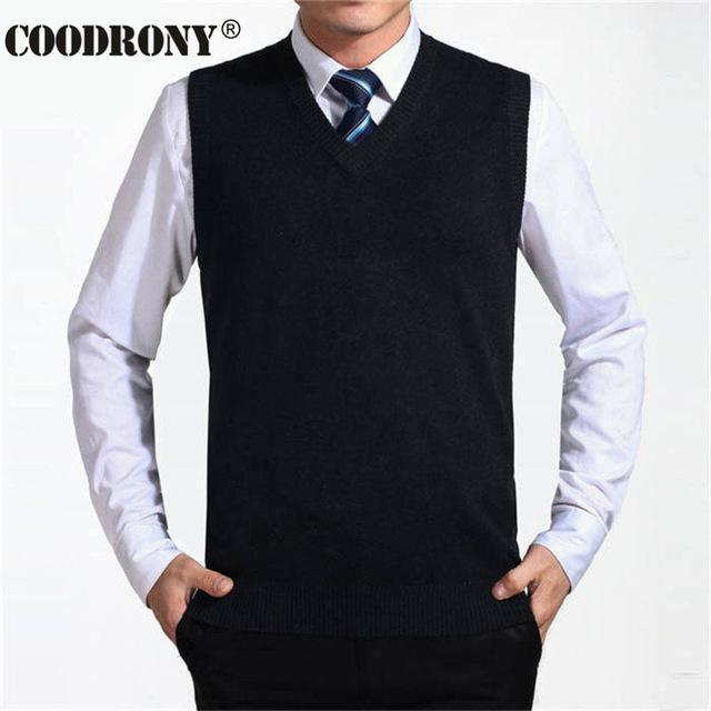 New Solid Color Cashmere Vest For Men-Black-S-JadeMoghul Inc.