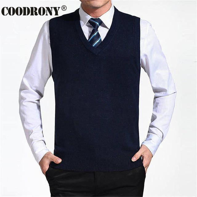 New Solid Color Cashmere Vest For Men-Navy Blue-S-JadeMoghul Inc.