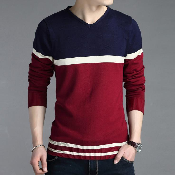 New V-Neck Sweater Fashionable Sweater For Men AExp