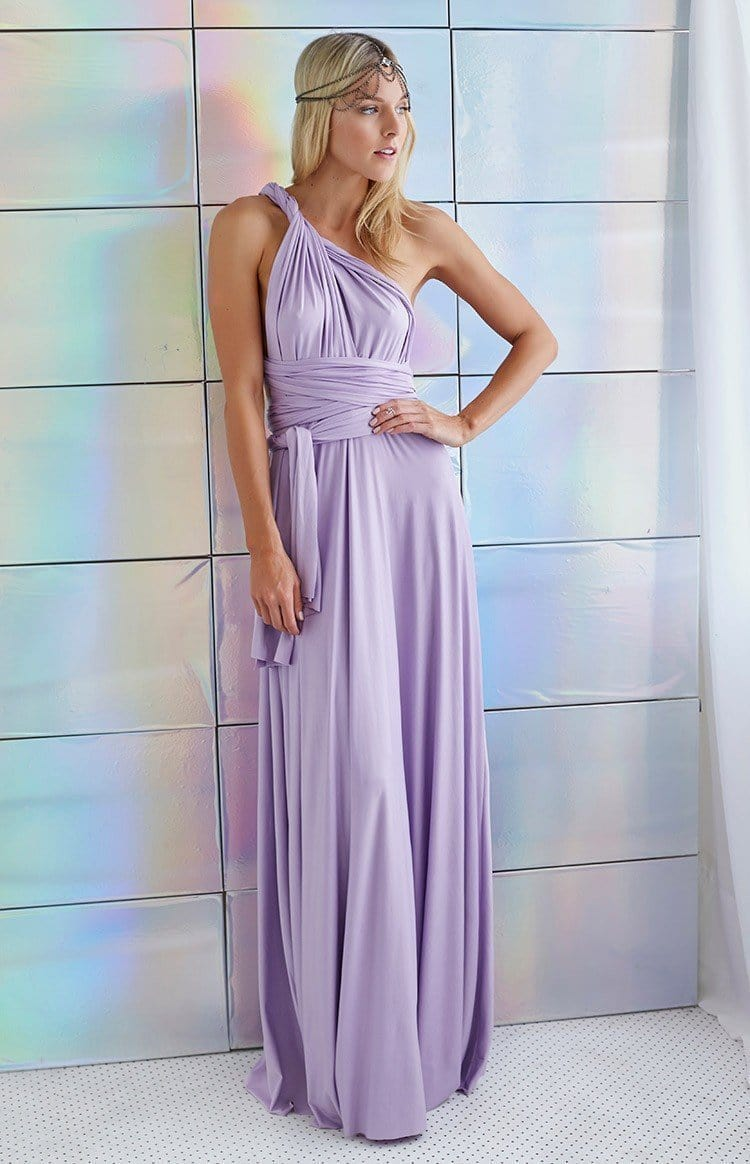 New Women Maxi Dress - Long Dress - Bridesmaids Convertible Wrap Party Dress-16-XXS-JadeMoghul Inc.