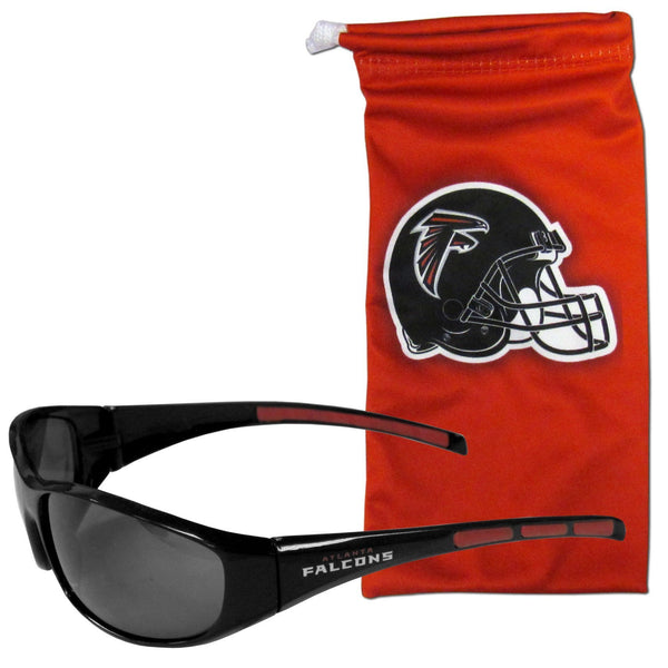 NFL - Atlanta Falcons Sunglass and Bag Set-Sunglasses, Eyewear & Accessories,Sunglass and Accessory Sets,Sunglass and Bag Sets,NFL Sunglass and Bag Sets-JadeMoghul Inc.