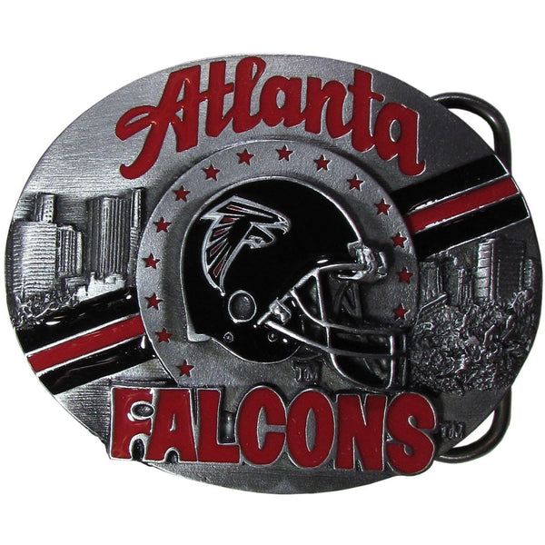 NFL - Atlanta Falcons Team Belt Buckle-Jewelry & Accessories,Belt Buckles,Team Belt Buckles,NFL Team Belt Buckles-JadeMoghul Inc.