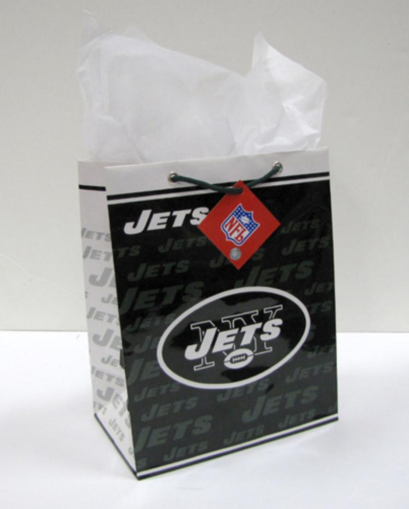 NFL New York Jets Medium Gift Bag-Party Goods/Housewares-JadeMoghul Inc.
