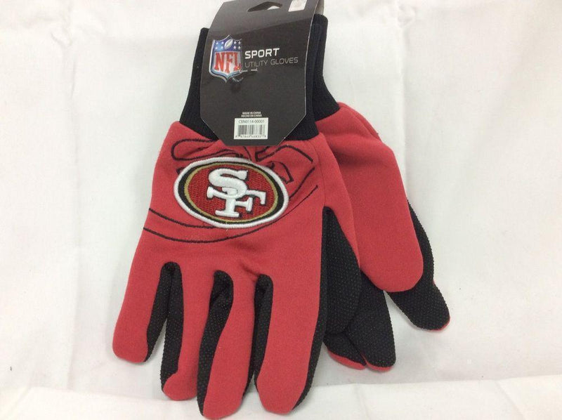 NFL San Francisco 49ers 2014 Raised Logo Gloves-LICENSED NOVELTIES-JadeMoghul Inc.