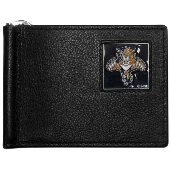 NHL - Florida Panthers Leather Bill Clip Wallet-Wallets & Checkbook Covers,Bill Clip Wallets,NHL Bill Clip Wallets-JadeMoghul Inc.