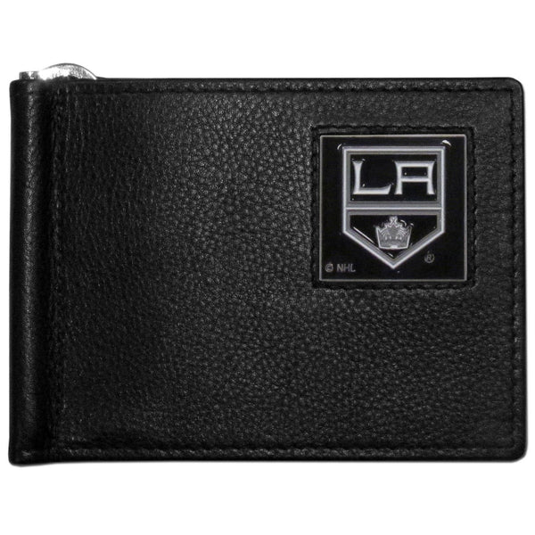 NHL - Los Angeles Kings Leather Bill Clip Wallet-Wallets & Checkbook Covers,Bill Clip Wallets,NHL Bill Clip Wallets-JadeMoghul Inc.